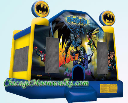 Batman Moonwalk Bounce House Inflatable Rental Chicago