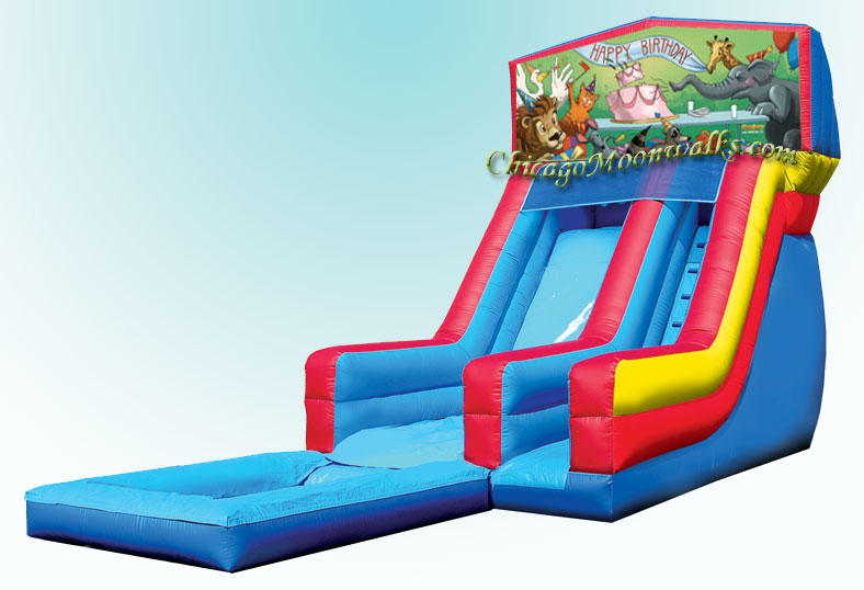 Birthday Animals Inflatable Waterslide Rental in Chicago IL