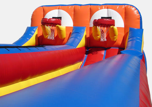 Inflatable Combo Shootout Basketball Bungee Run Rental Chicago IL & Suburbs