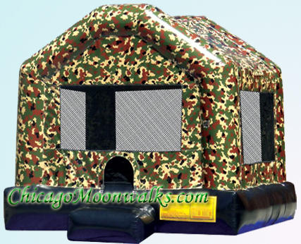 Camo Military Bounce House Rental Chicago Camo Moonwalk