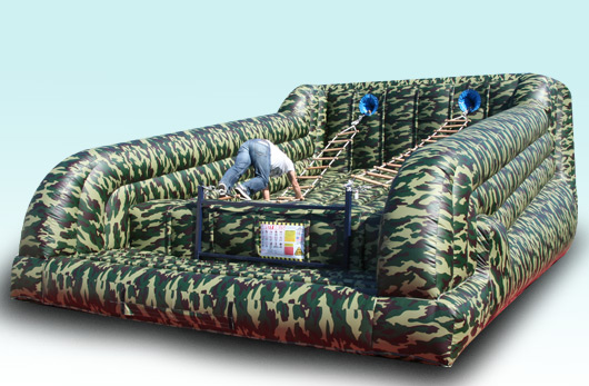 Camo Military Jacobs Ladder Inflatable Rental Chicago IL