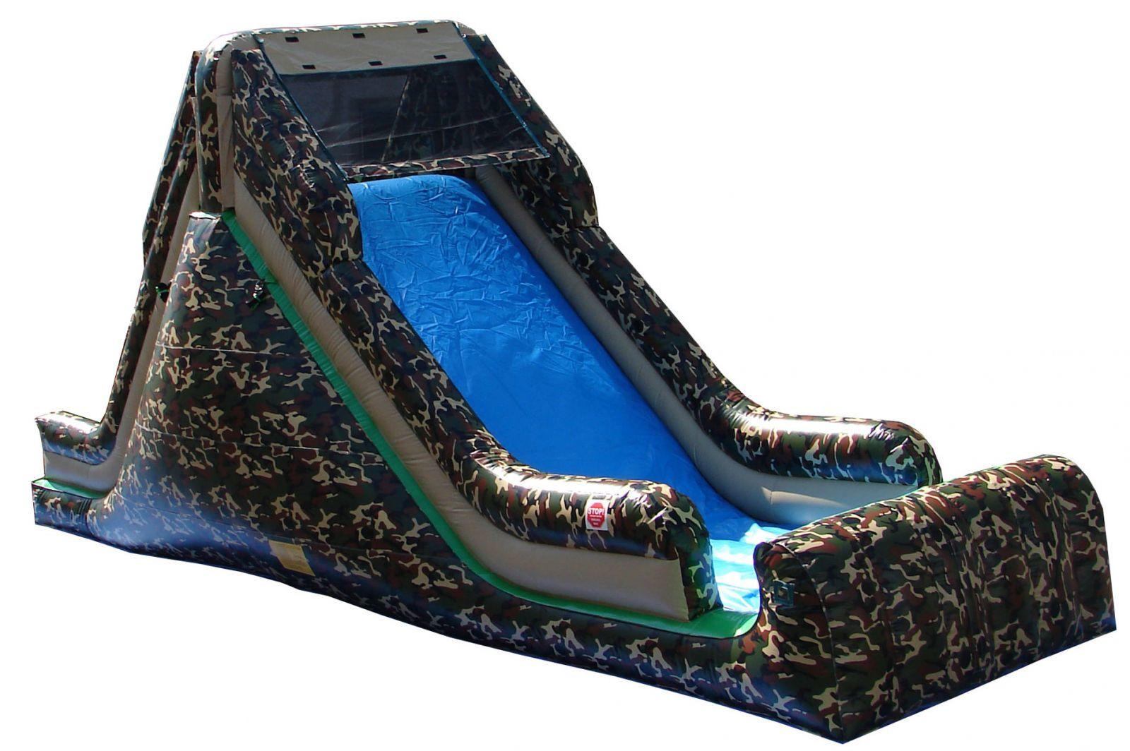 Inflatable Military Camouflage Dry Slide Rental Chicago IL