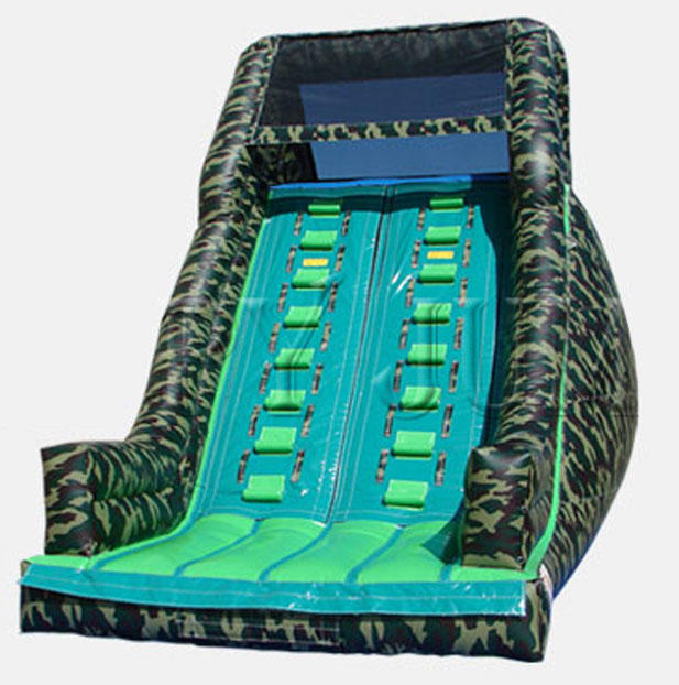 Camo Military Inflatable Camouflage Dry Slide Rental Chicago IL