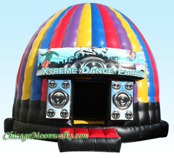 Disco Dome Dance Party Rental Chicago Inflatable Bounce House Xtreme Dance Party