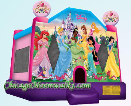Disney Princesses Character Moonwalk Bounce House Party Rental Chicago