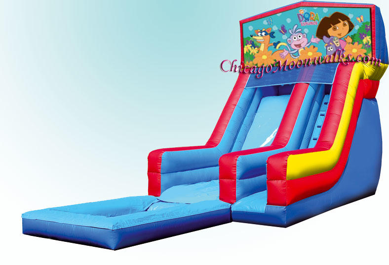 Dora Dora The Explorer Water Slide Rental Chicago Moonwalks