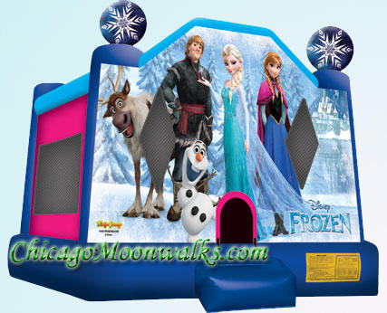 Disney Frozen Inflatable Bounce House Moonwalk Rental Chicago IL