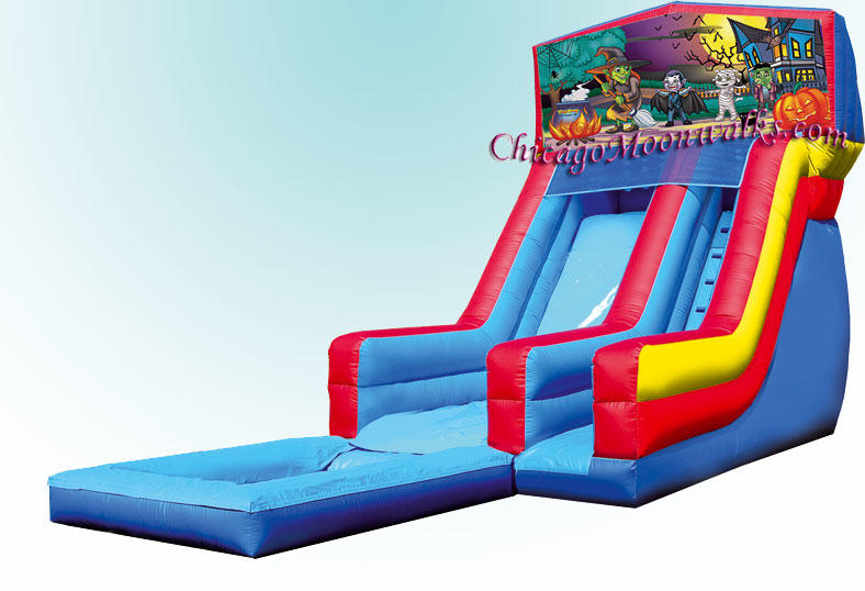 Haunting Water Slide Rental Chicago, Haunting is a great theme for Halloween parties Party Rental.