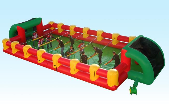 Human Foosball Inflatable Interactive Rental Chicago Inflatable Soccer Field Rental Chicago