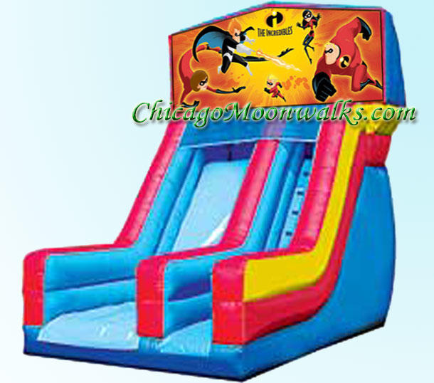 Incredibles Inflatable Slide Rental Chicago Moonwalks Bounce House Rentals