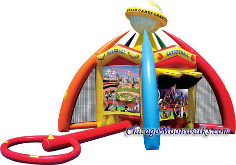 Chicago Junior World of Sports Party Rental Inflatable interactive game