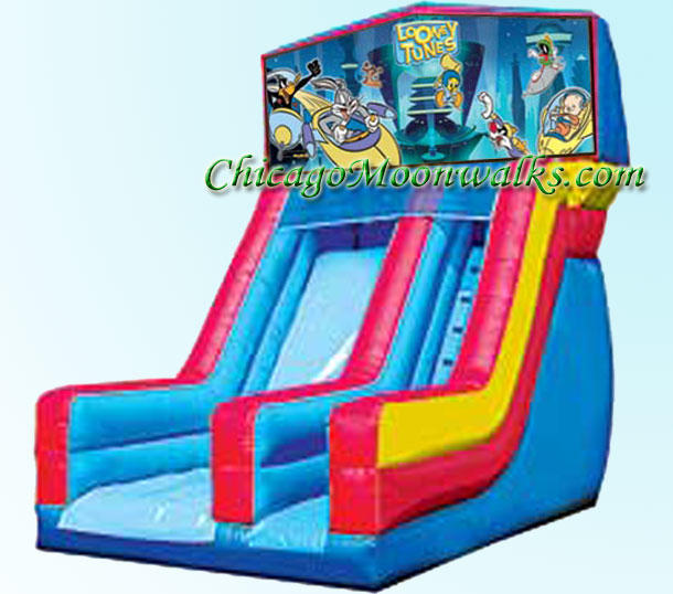 Looney Tunes Slide Inflatable Rental Chicago Illinois Bounce House Moonwalks