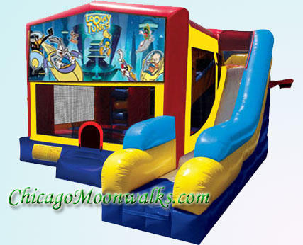 Looney Tunes 7 in 1 Inflatable Slide Combo Bounce House Rental Chicago Illinois