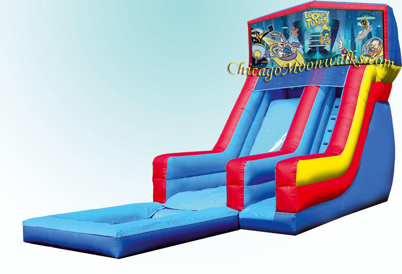 Water Slide Rental Looney Tunes Waterslide Rental, Chicago Moonwalks.  Bounce House Party Rentals.