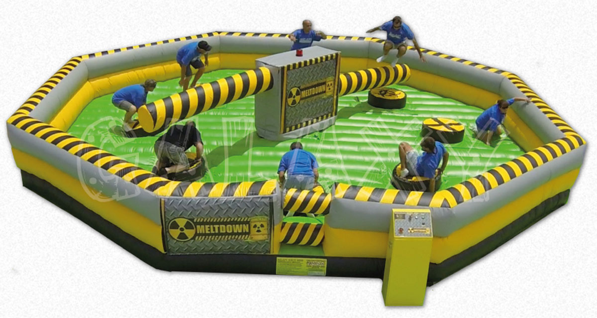 Chicago Inflatable Interactive Game Rentals Obstacle Courses Euro Bungee Trackless Train