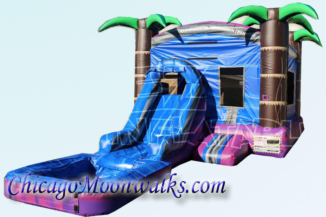 Purple Crush Wet Combo Rental Bounce House in Chicago IL