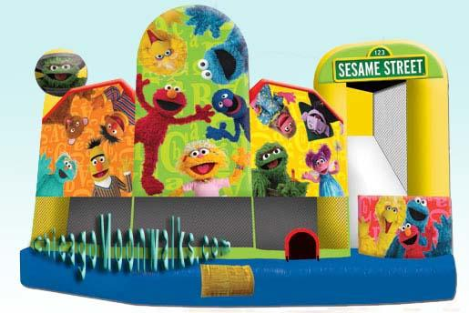 Elmo Sesame Street Combo Bounce House Rental Chicago
