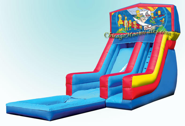 The Simpsons Inflatable Waterslide Rental Chicago IL