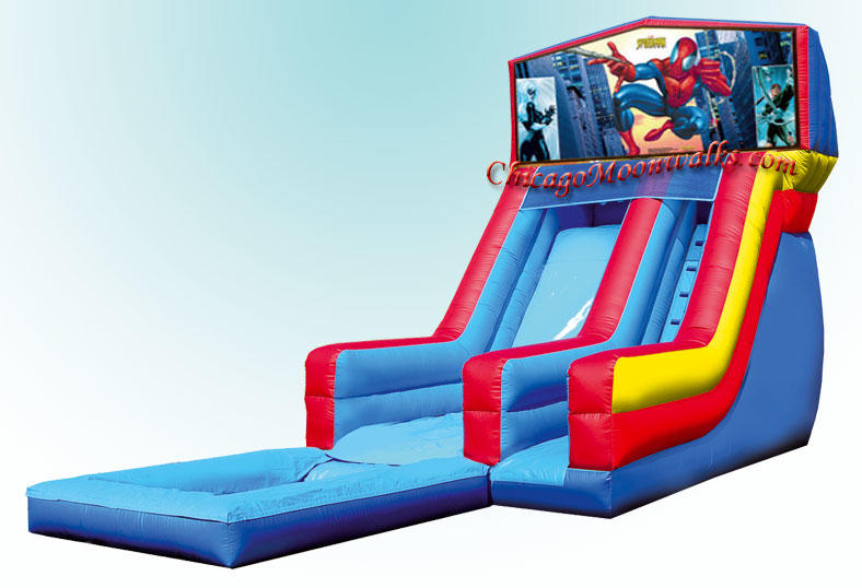 Spiderman Waterslide Spider Man Water Slide Rental Chicago IL