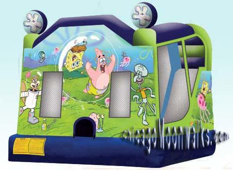 Spongebob Bounce House Combo Rental Chicago IL