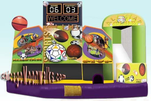 Sports 5 in 1 Combo Rental Chicago IL, Inflatable Combo Rentals