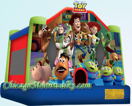 Toy Story 3 Inflatable Moonwalk Rental in Chicago