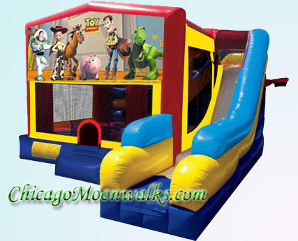 Toy Story 7 in 1 Inflatable Slide Combo Bounce House Rental Chicago Illinois