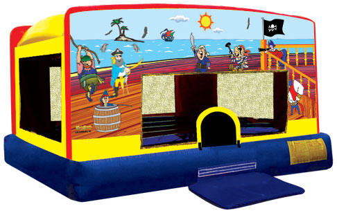 Treasure Island Pirate Inflatable Bounce House Rental Chicago Moonwalks IL
