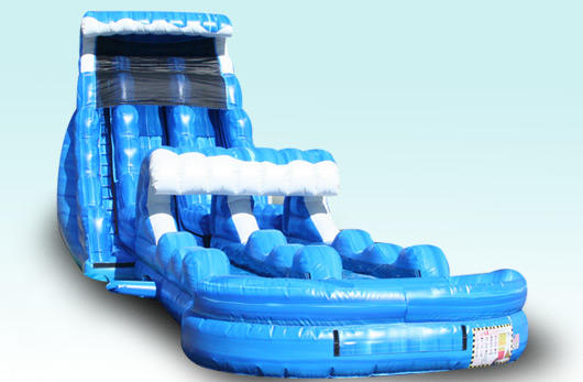 Chicago event rentals, Tsunami waterslide with slip and slide.
