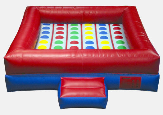 Inflatable Twister Rental Chicago. Interactive Inflatable game rental. Chicago Moonwalks Party rentals.