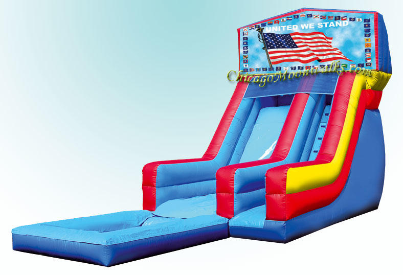 United We Stand Patriotic Theme waterslide Party Rentals in Chicago IL