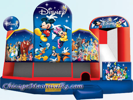 Disney Bounce House Combo Slide Rental Chicago IL Inflatable Mickey and Friends Party Rentals Chicago