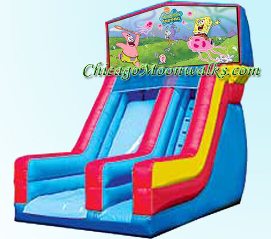 Spongebob Slide Inflatable Rental Chicago Illinois Bounce House Moonwalks