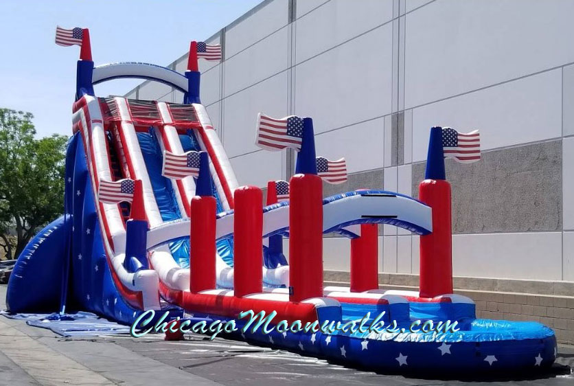 All American Themed Water Slide rental in Chicago