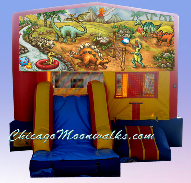 Mickey Mouse Party Rental Bounce House Chicago.  This Jumping Jack Features Mickey Character, Minnie Mouse, Donald Duck, Daisy Duck & Goofy. Themed Character Party Rental Completes Your Celebration in Style, and It Entertains Children With a Slide & Basket Ball Hoop as Well.