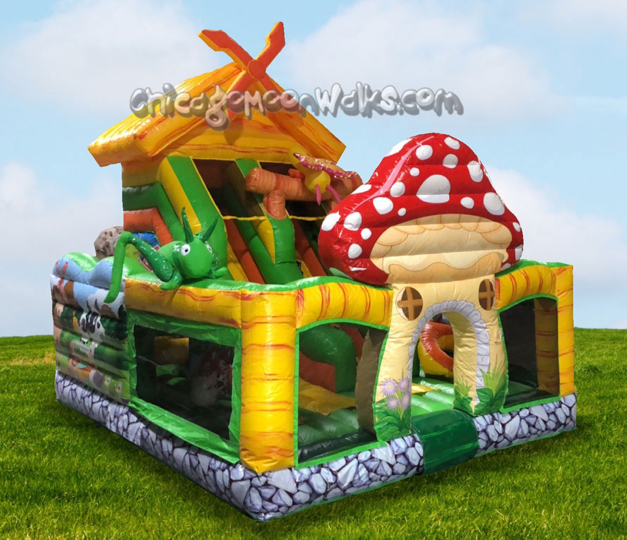 Nature Garden Combo Toddler Playground Inflatable Rental Chicago IL