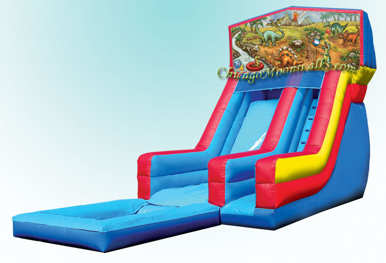 Dino Planet Waterslide with Pool Rental