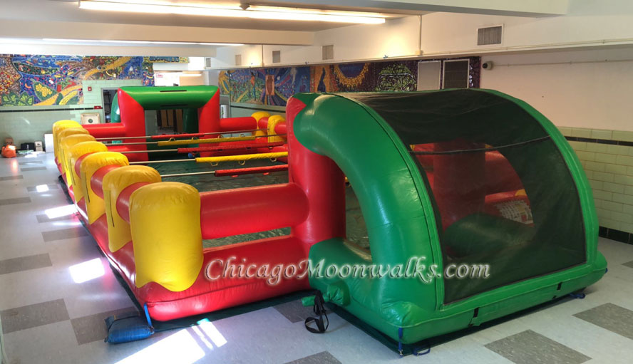 Human Foosball Inflatable Rental Chicago