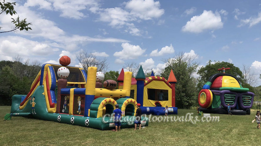 Inflatable Obstacle Course and Disco Dome Rental Chicago