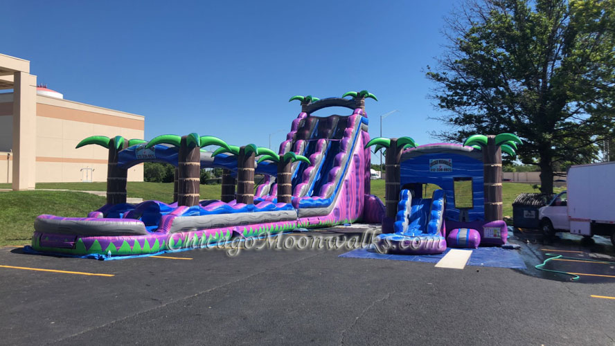 Purple Crush Water Slide and Wet Combo Rental Chicago