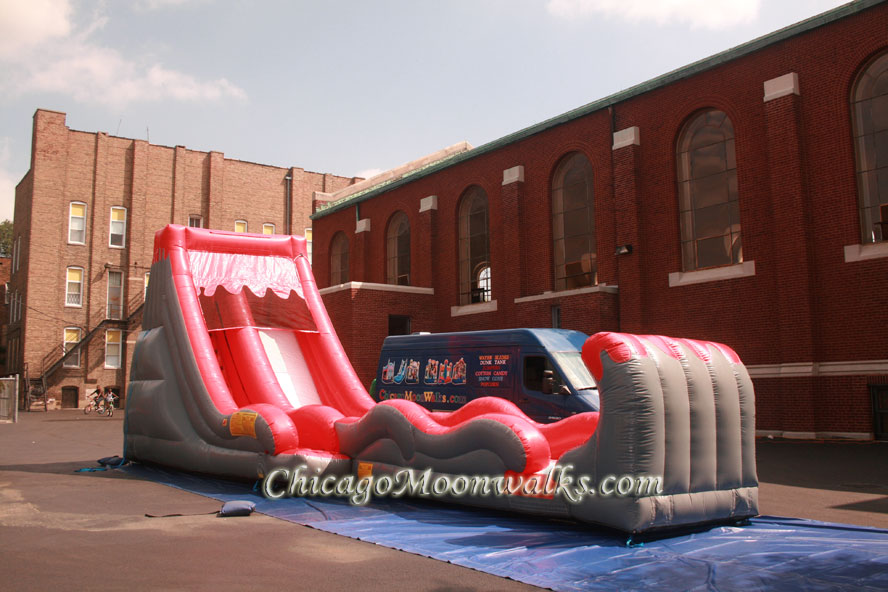 Volcano Water Slide Inflatable Rental Chicago