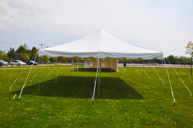 Traditional Frame Tent Rental 20x20 No side walls
