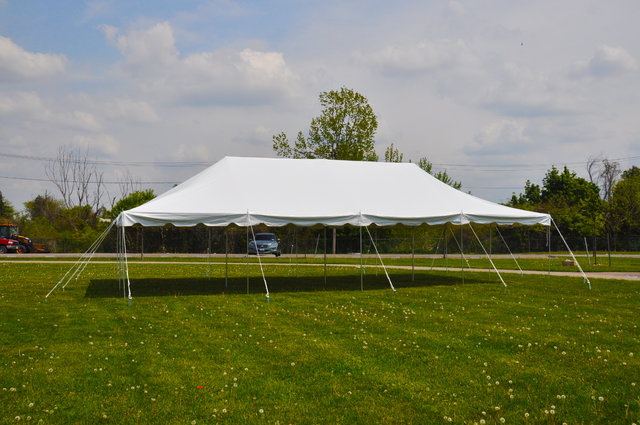 Traditional Frame Tent Rental 20x40 No side walls