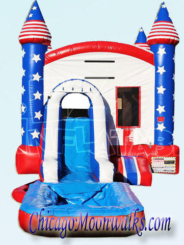 All American Patriot Wet Combo Bounce House