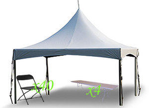 High Peak Frame Tent 20x20 Tables and Chair Package