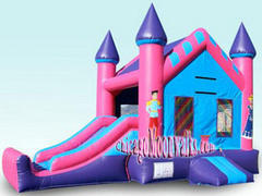 3-in-1 Princess Combo Bounce House
