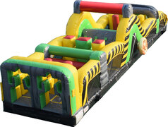 Caustic Inflatable Slide Obstacle Course 40