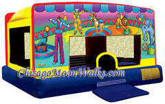 Indoor/Outdoor Circus Toddler Moonwalk