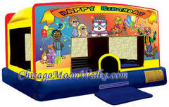 Indoor/Outdoor Happy Birthday Toddler Moonwalk