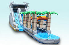 Tropical Rainbow Waterslide with Pool and Slip n Slide